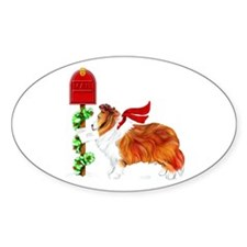Sable Sheltie Mail Oval Decal