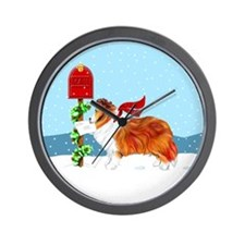 Sable Sheltie Mail Wall Clock