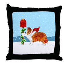 Sable Sheltie Mail Throw Pillow