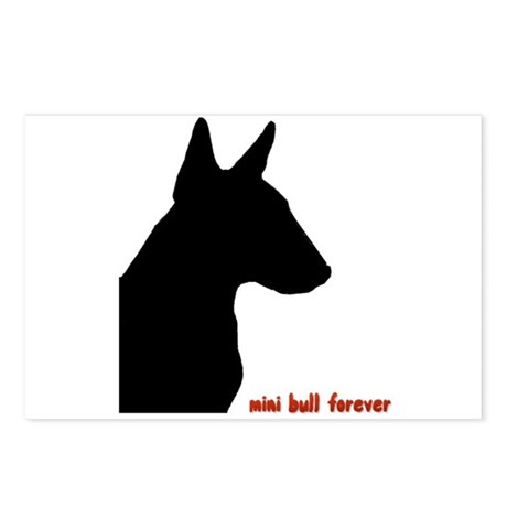 Miniature Bull Terrier Postcards (Package of 8)