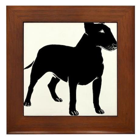 Miniature Bull Terrier Framed Tile