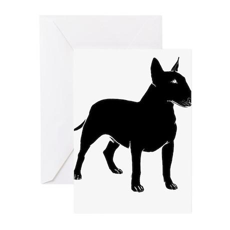 Miniature Bull Terrier Greeting Cards (Pk of 20)