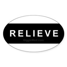 Relieve Oval Decal