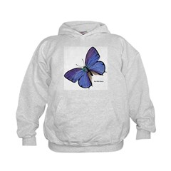 Blue Butterfly (Front) Hoodie