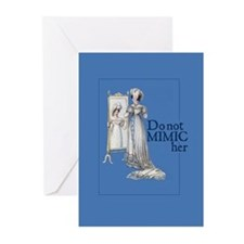 Jane Austen Mimic Greeting Cards