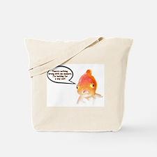 Cranky Goldfish Tote Bag