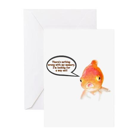 Cranky Goldfish Greeting Cards (Pk of 10)