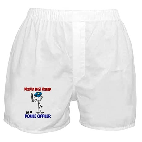 Proud Best Friend 1 (Police Officer) Boxer Shorts