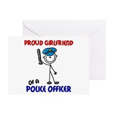 Proud Girlfriend 1 (Police Officer) Greeting Card