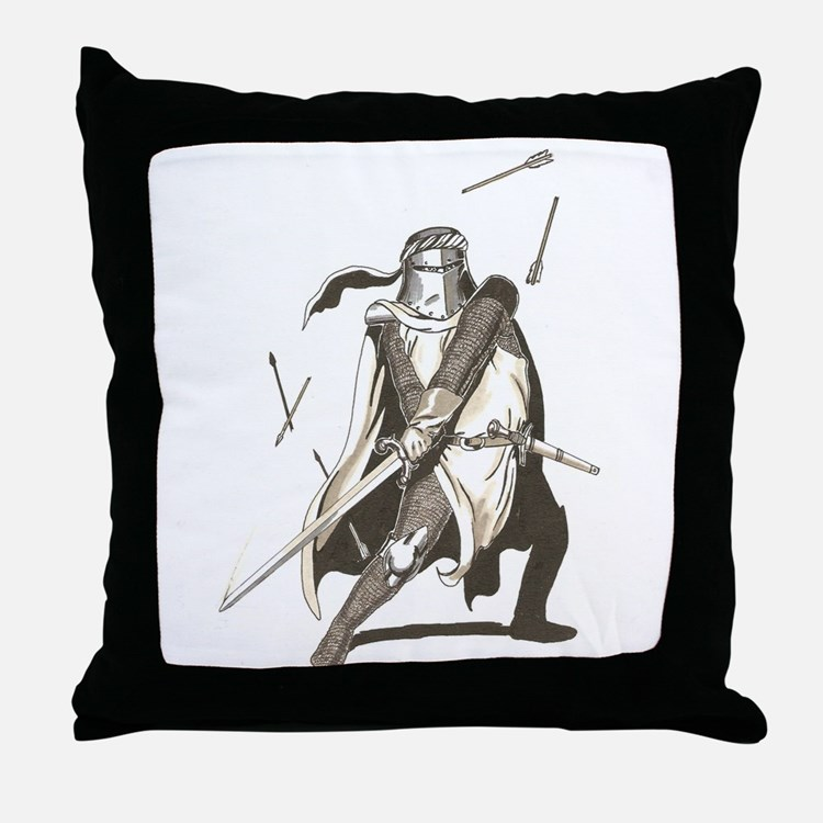Cute Paladin Throw Pillow
