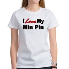 I Love My Min Pin Tee