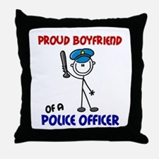 Proud Boyfriend 1 (Police Officer) Throw Pillow