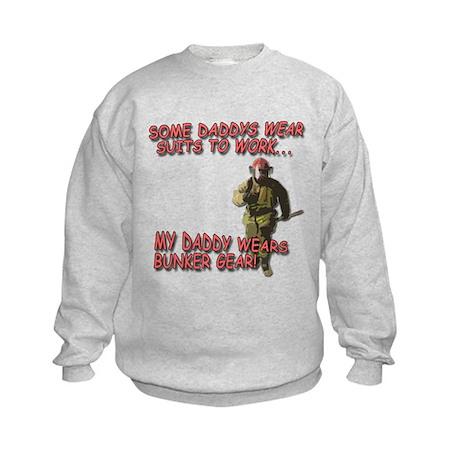 My Daddy Wears Bunker Gear Kids Sweatshirt