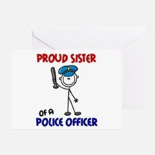 Proud Sister 1 (Police Officer) Greeting Card