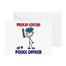 Proud Cousin 1 (Police Officer) Greeting Card