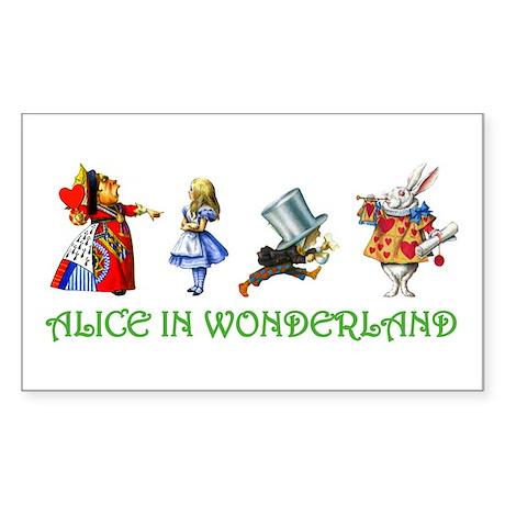 WONDERLAND Rectangle Sticker