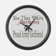army girlfriend Large Wall Clock