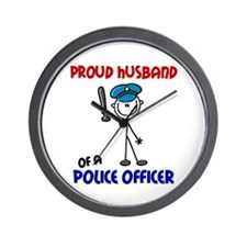 Proud Husband 1 (Police Officer) Wall Clock