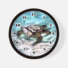 Swimming Sea Turtle Wall Clock