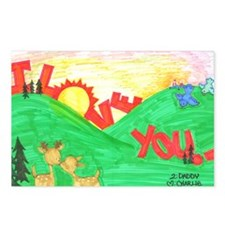 I Love You Postcards (Package of 8)