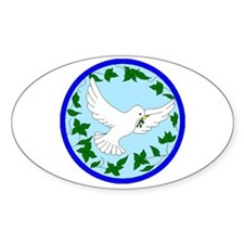 Dove Of Peace Oval Decal