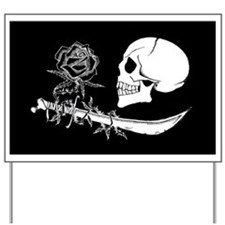black rose Yard Sign