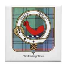 Armstrong Tartan and Clan Badge Coaster