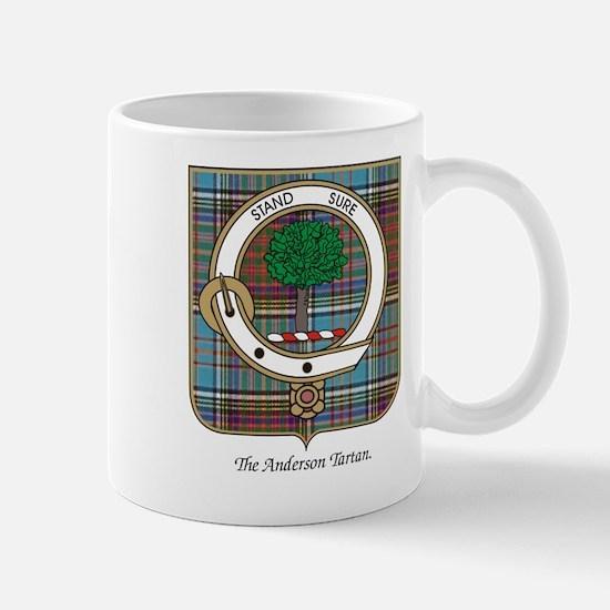 Anderson Clan Badge and Tartan Mug