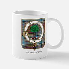 Anderson Clan Badge and Tartan Small Mugs