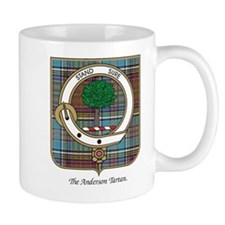 Anderson Clan Badge and Tartan Small Mugs