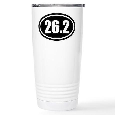 26.2 Marathon Oval Stainless Steel Travel Mug
