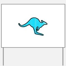 Blue Kangaroo Yard Sign