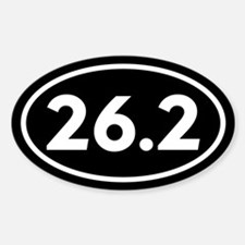 26.2 Marathon Oval Oval Decal