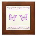 Butterflies and Flowers Framed Tile