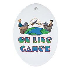 Killing the world Oval Ornament