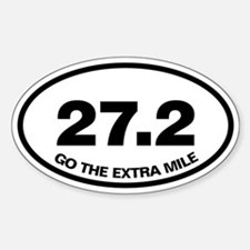 27.2 Go extra mile Oval Decal