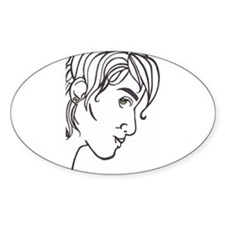 Right Side of Face Oval Decal