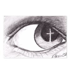 Cross Reflected in Eye Postcards (Package of 8)