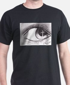 Cross Reflected in Eye T-Shirt