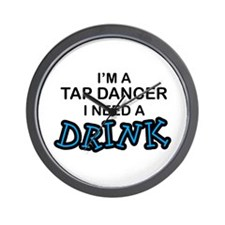 Tap Dancer Need a Drink Wall Clock