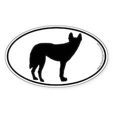 Dingo SILHOUETTE Oval Sticker (10 pk)