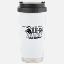 Army Apache Helicopter Stainless Steel Travel Mug