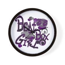Beat Box Girl P Wall Clock