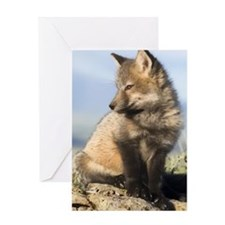 Cross Fox Digital Art Greeting Card