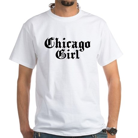 Chicago Girl White T-Shirt