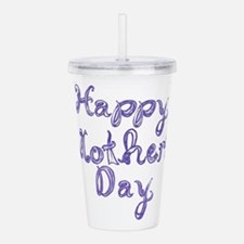 Happy Mother's Day fabric font blue Acrylic Double