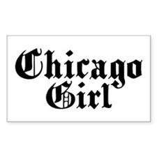 Chicago Girl Rectangle Decal