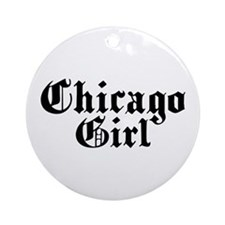 Chicago Girl Ornament (Round)