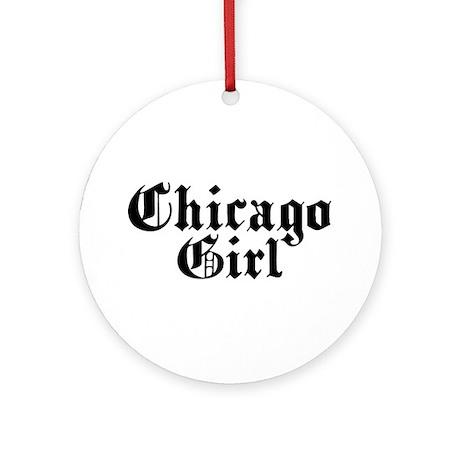 Chicago Girl Ornament (Round)