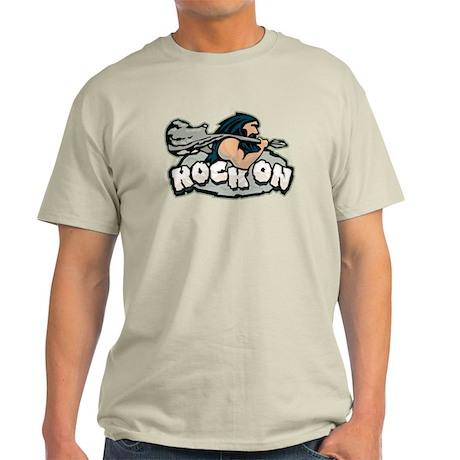Rock On Guitar Caveman Light T-Shirt